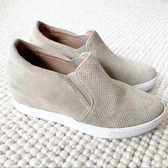 Aiden Tan Perforated Wedge Sneaker